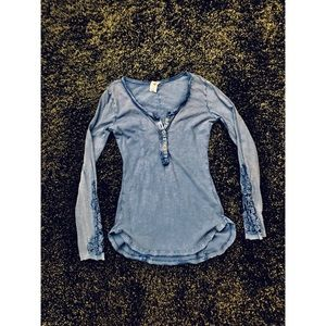 Free People long sleeve with sleeve accents